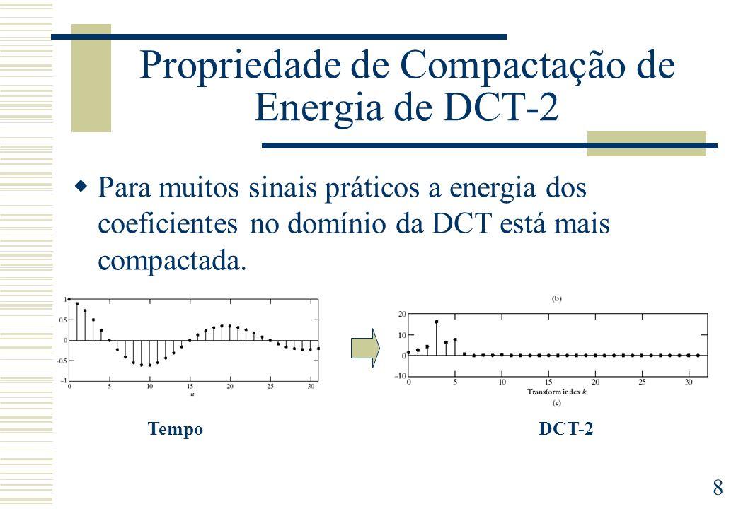 Propriedade de Compactação de Energia de DCT-2