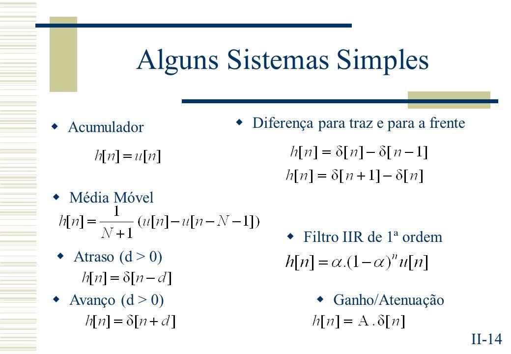 Alguns Sistemas Simples