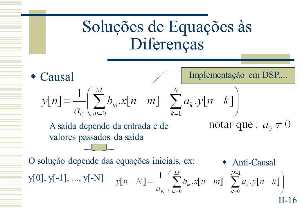 Soluções de Equações às Diferenças