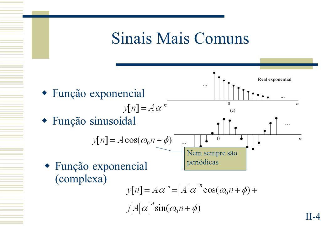 Sinais Mais Comuns Função exponencial Função sinusoidal