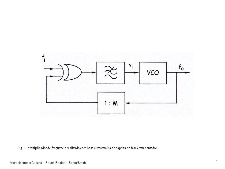 Fig. 7 Multiplicador de frequência realizado com base numa malha de captura de fase e um contador.