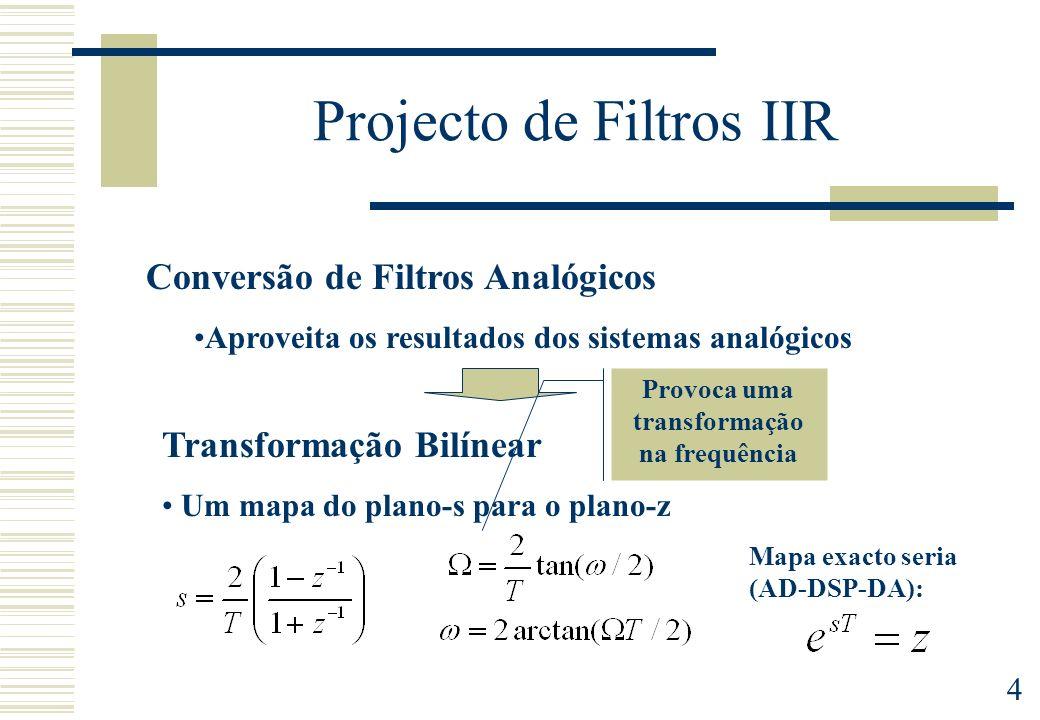 Projecto de Filtros IIR