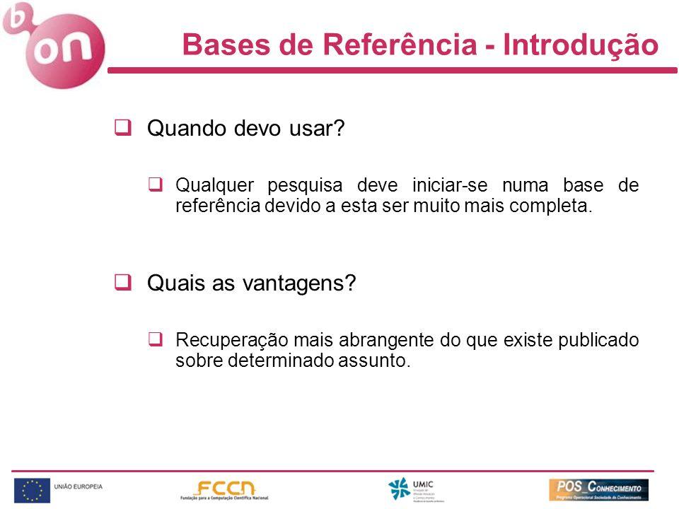 Bases de Referência - Introdução