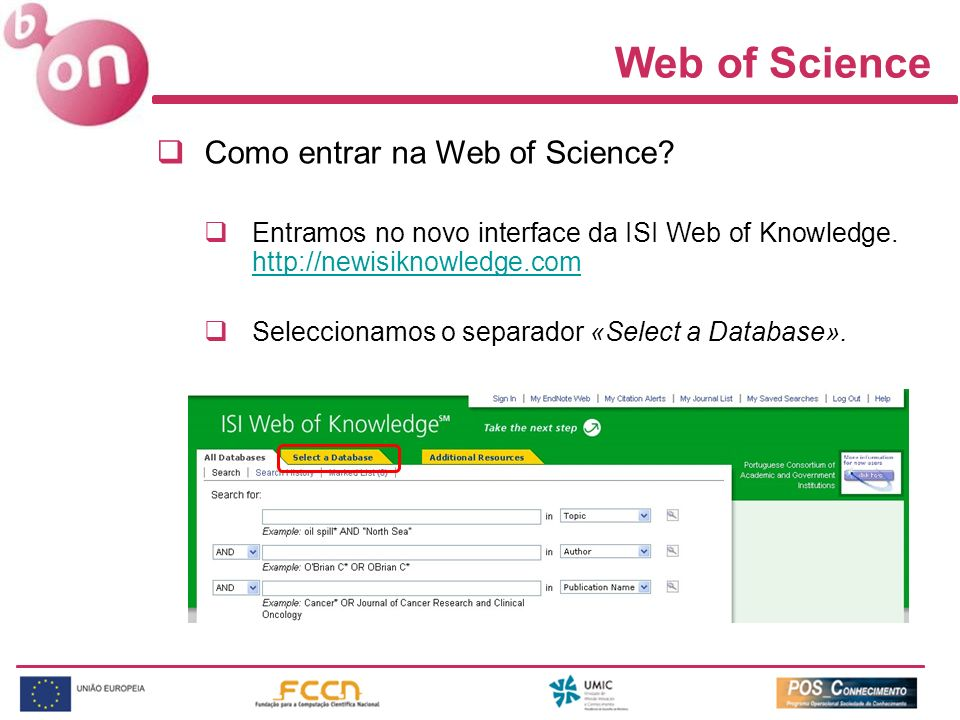 Web of Science Como entrar na Web of Science