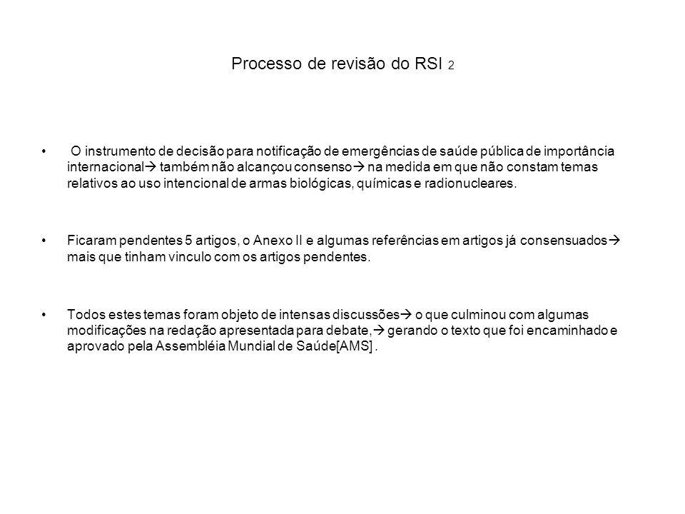 Processo de revisão do RSI 2