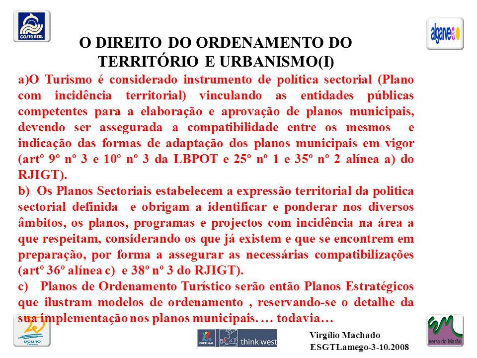O DIREITO DO ORDENAMENTO DO TERRITÓRIO E URBANISMO(I)