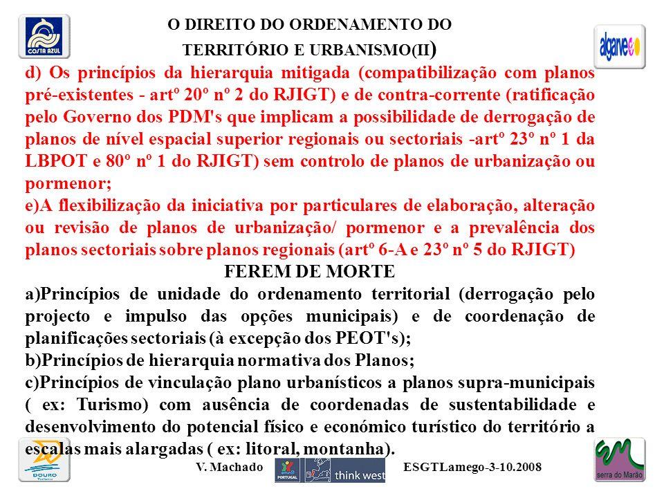 O DIREITO DO ORDENAMENTO DO TERRITÓRIO E URBANISMO(II)