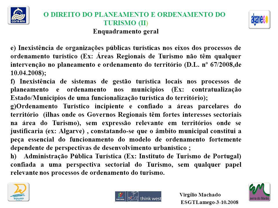 O DIREITO DO PLANEAMENTO E ORDENAMENTO DO TURISMO (II)