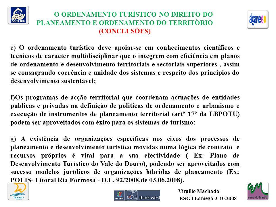 Virgílio Machado O ORDENAMENTO TURÌSTICO NO DIREITO DO