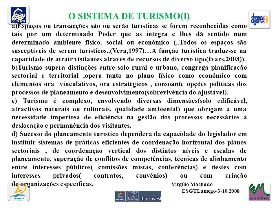 O SISTEMA DE TURISMO(I)