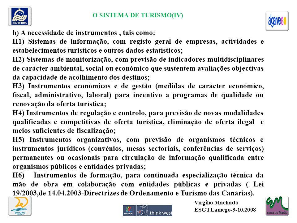 O SISTEMA DE TURISMO(IV)