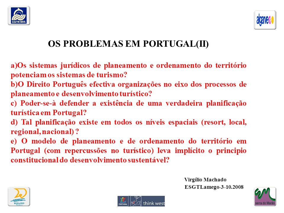 OS PROBLEMAS EM PORTUGAL(II)