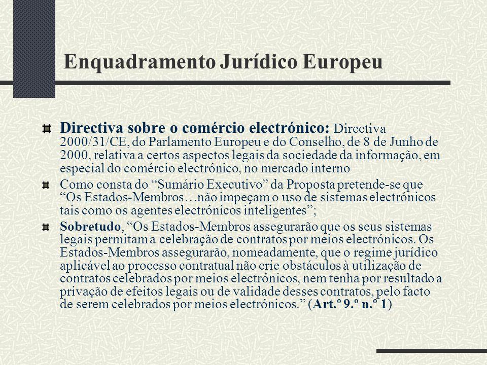 Enquadramento Jurídico Europeu