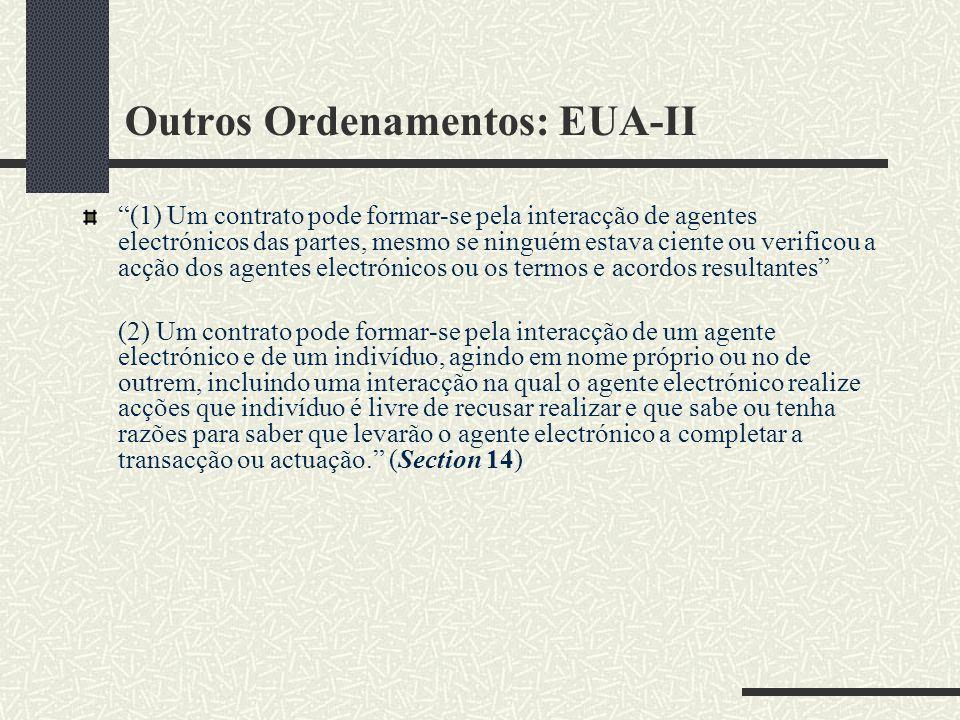 Outros Ordenamentos: EUA-II