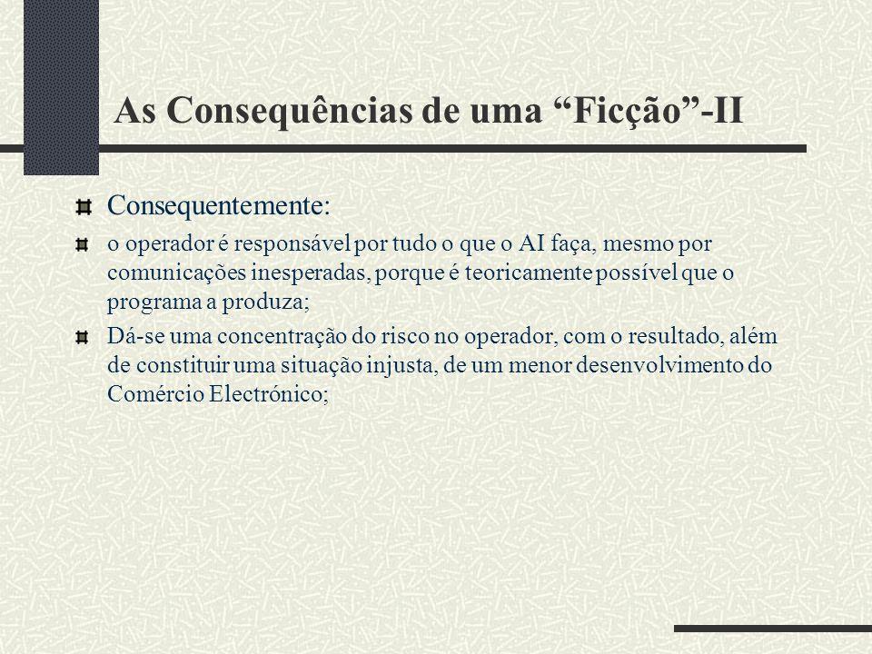 As Consequências de uma Ficção -II