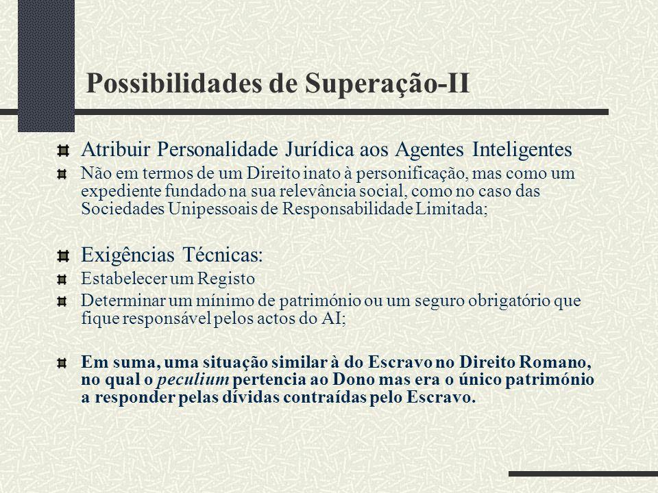 Possibilidades de Superação-II