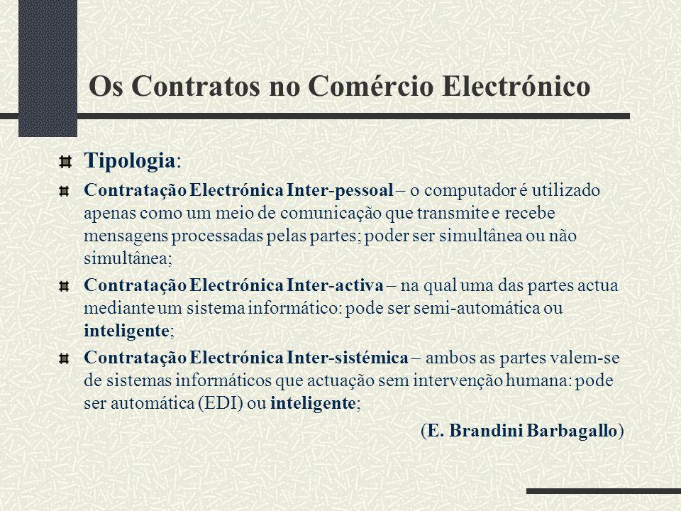 Os Contratos no Comércio Electrónico