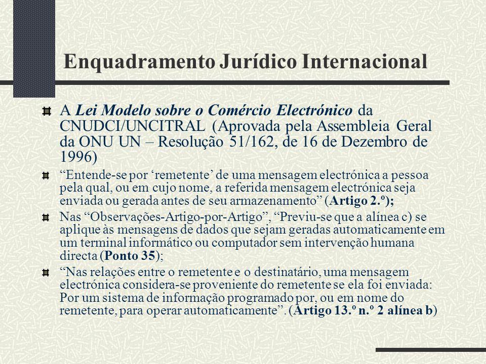 Enquadramento Jurídico Internacional