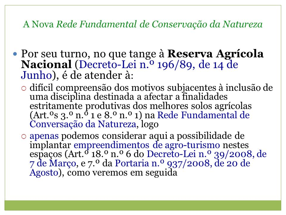 A Nova Rede Fundamental de Conservação da Natureza