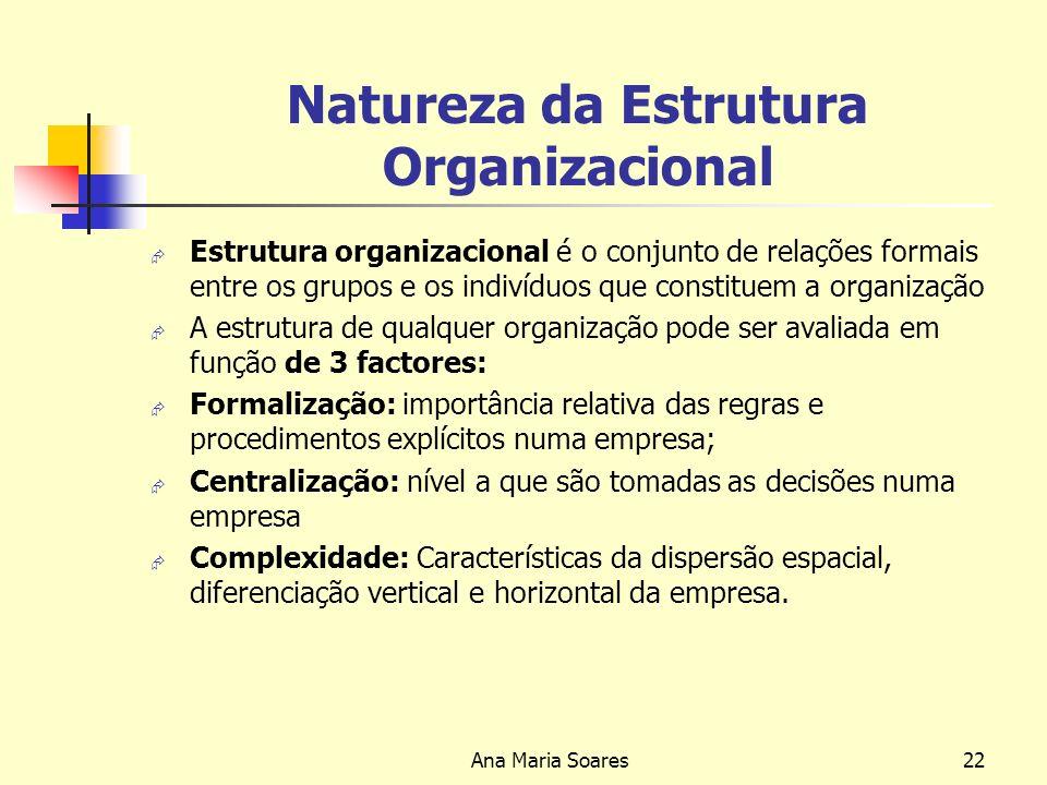 Natureza da Estrutura Organizacional