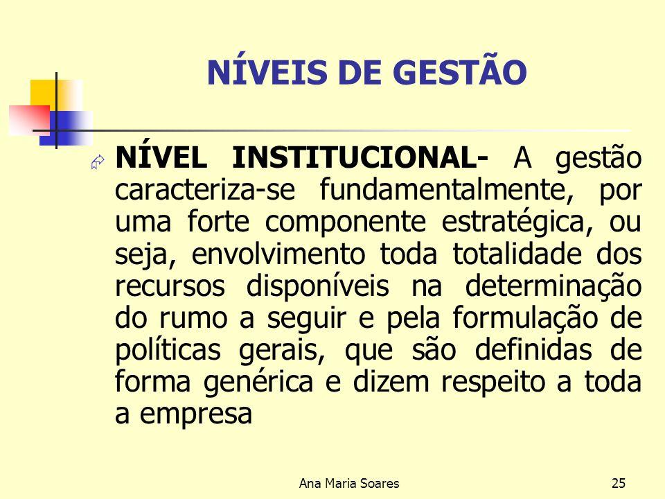 NÍVEIS DE GESTÃO