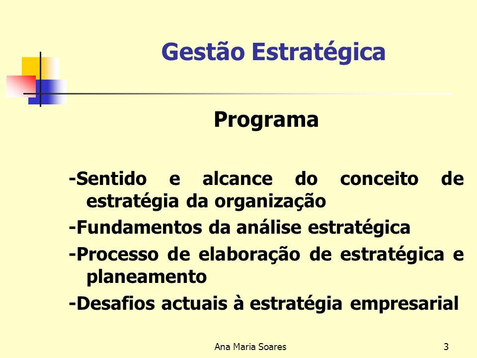 Gestão Estratégica Programa