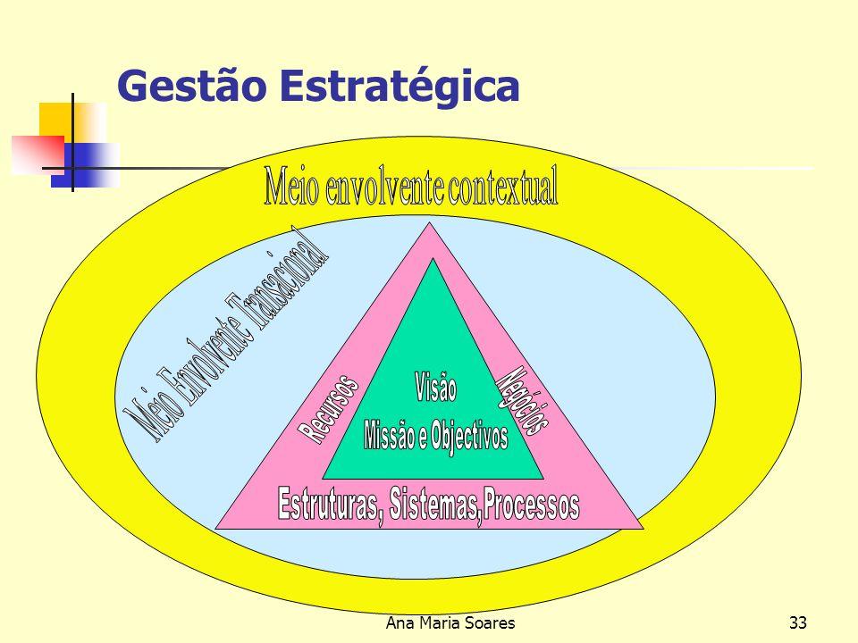 Gestão Estratégica Meio envolvente contextual Ana Maria Soares