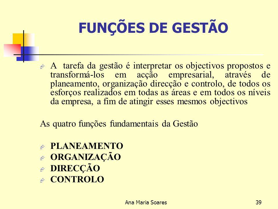FUNÇÕES DE GESTÃO