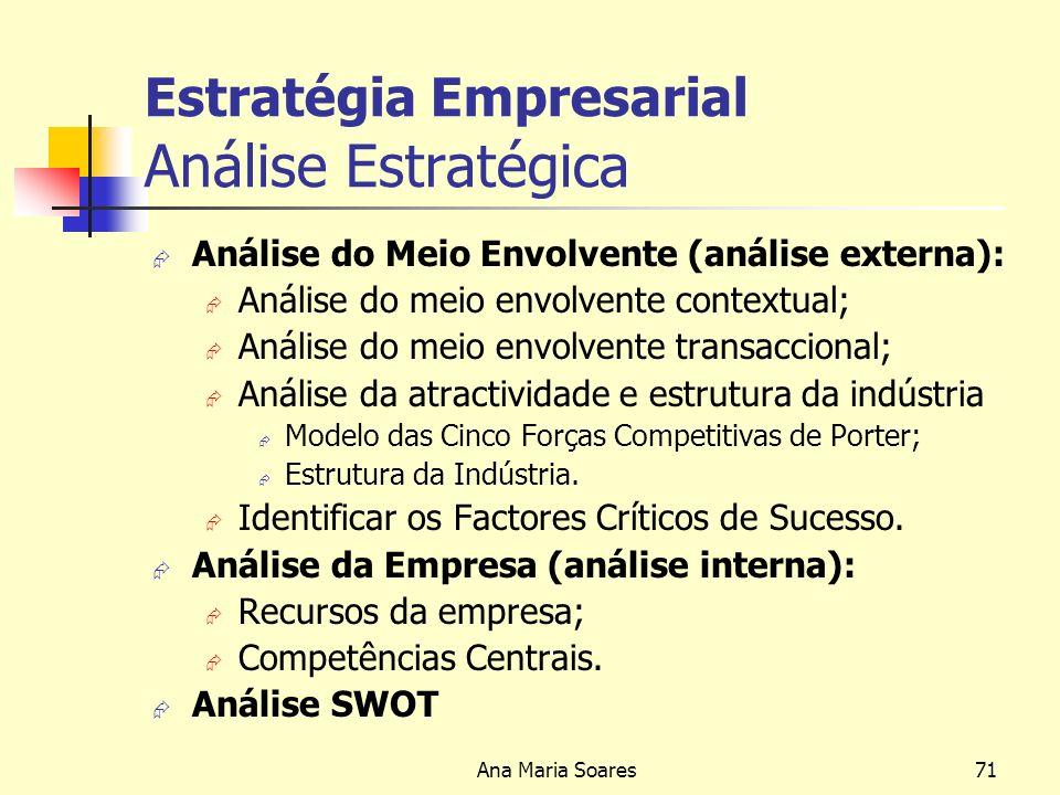 Estratégia Empresarial Análise Estratégica