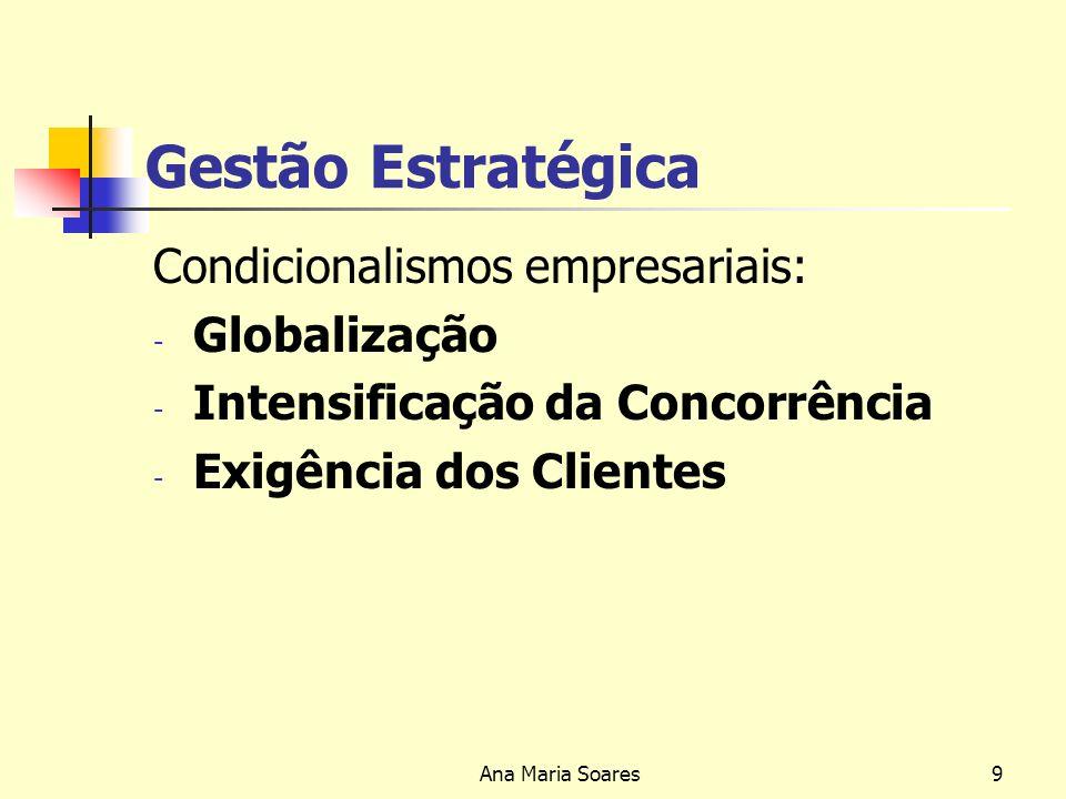 Gestão Estratégica Condicionalismos empresariais: Globalização