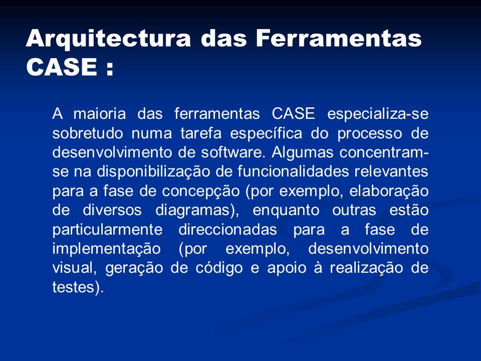Arquitectura das Ferramentas CASE :