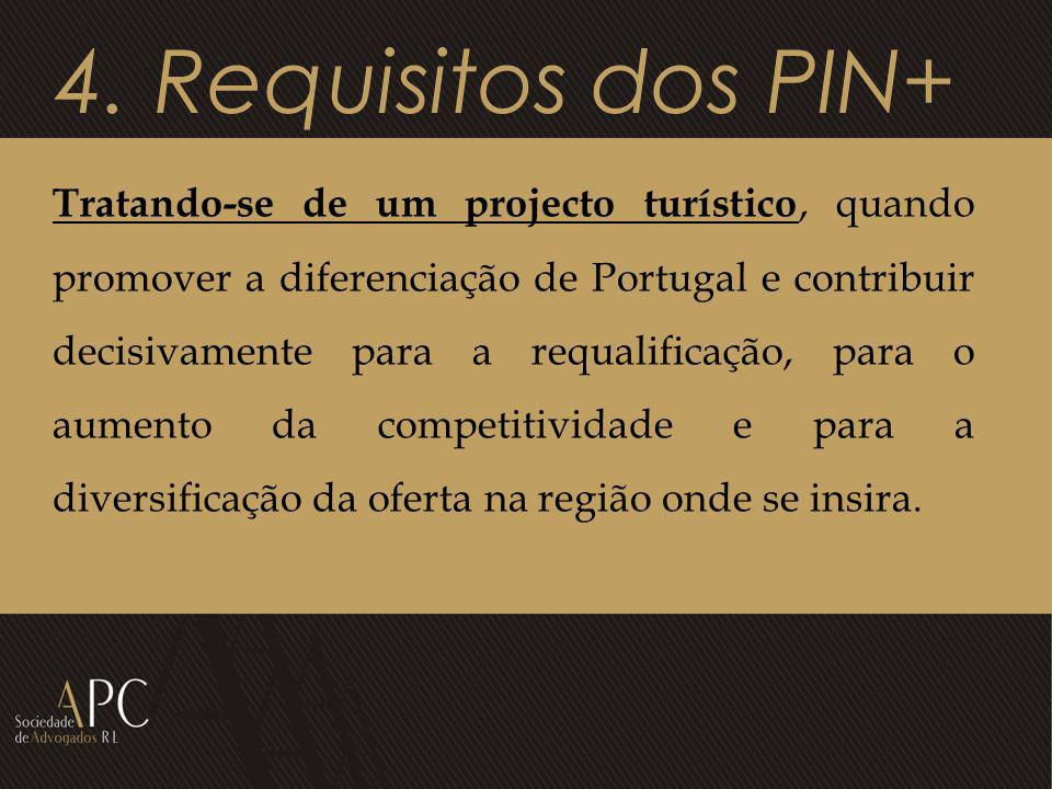 4. Requisitos dos PIN+