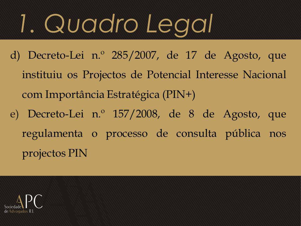 1. Quadro Legal