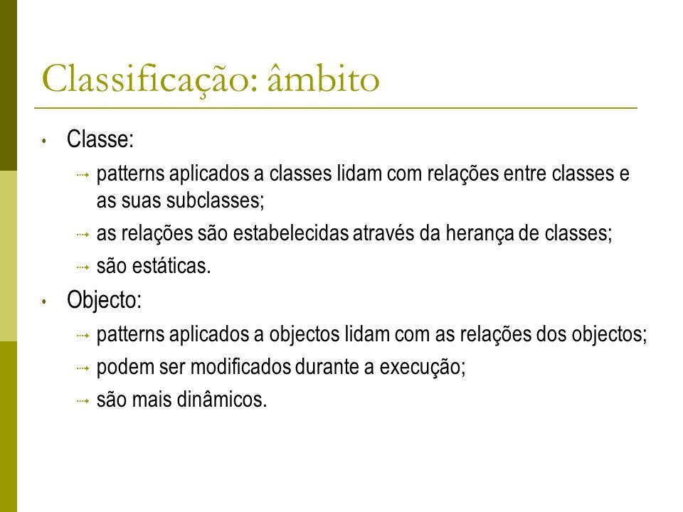 Classificação: âmbito