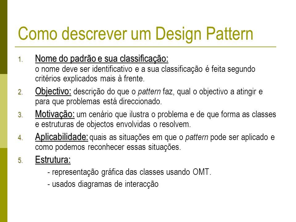 Como descrever um Design Pattern