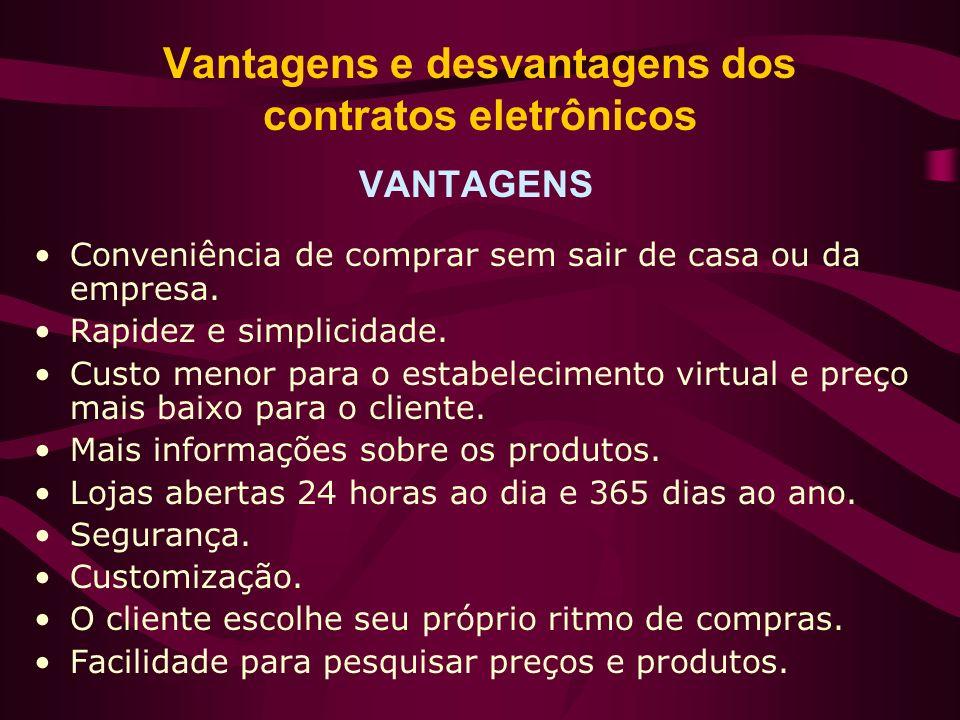 Vantagens e desvantagens dos contratos eletrônicos