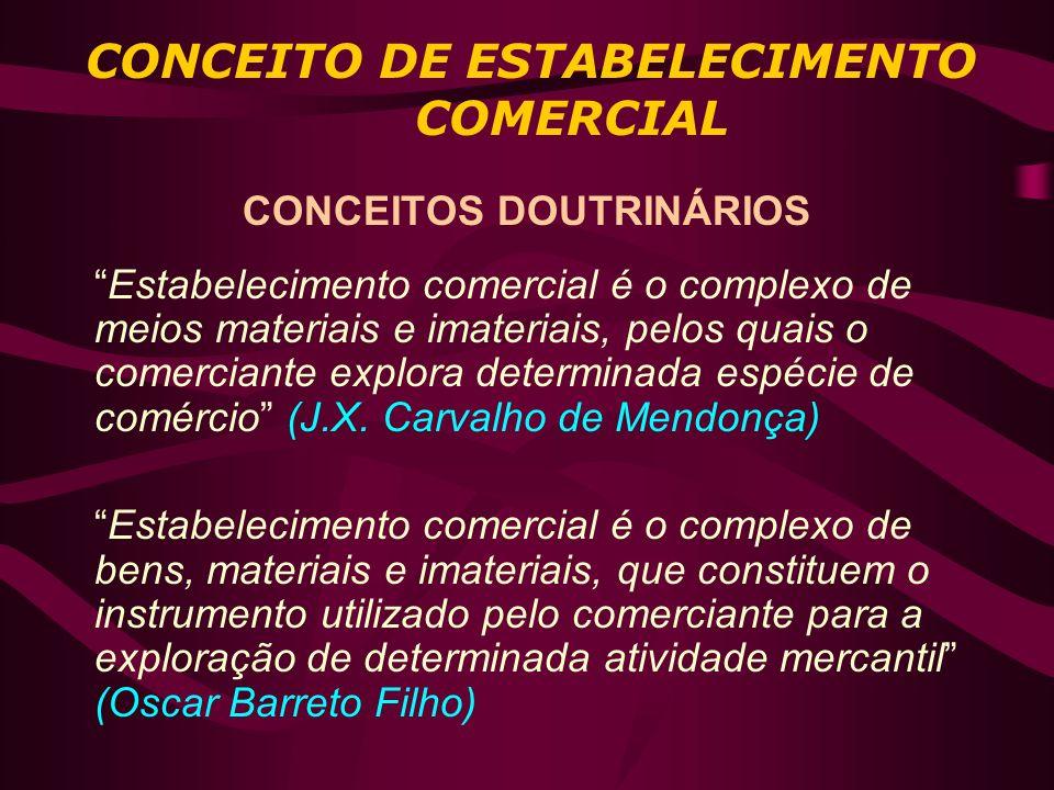 CONCEITO DE ESTABELECIMENTO COMERCIAL