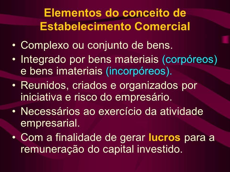 Elementos do conceito de Estabelecimento Comercial