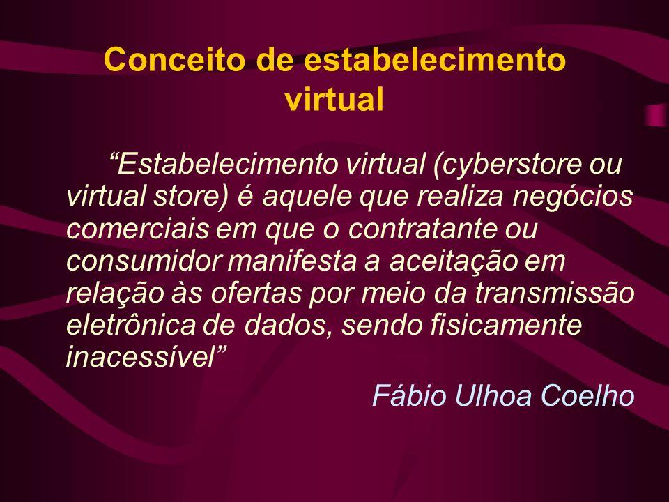 Conceito de estabelecimento virtual