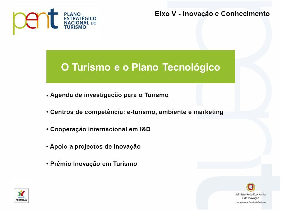 O Turismo e o Plano Tecnológico