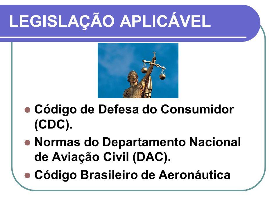 LEGISLAÇÃO APLICÁVEL Código de Defesa do Consumidor (CDC).