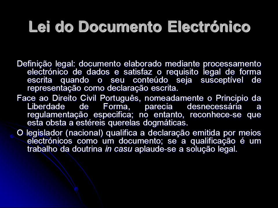Lei do Documento Electrónico