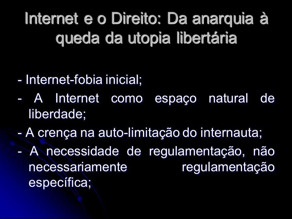 Internet e o Direito: Da anarquia à queda da utopia libertária