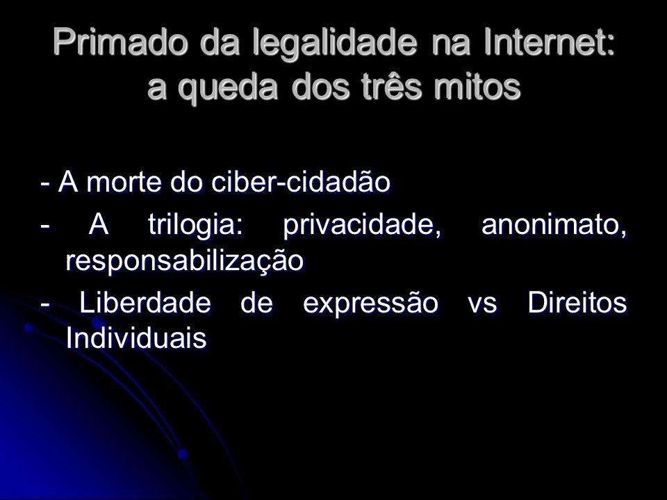 Primado da legalidade na Internet: a queda dos três mitos