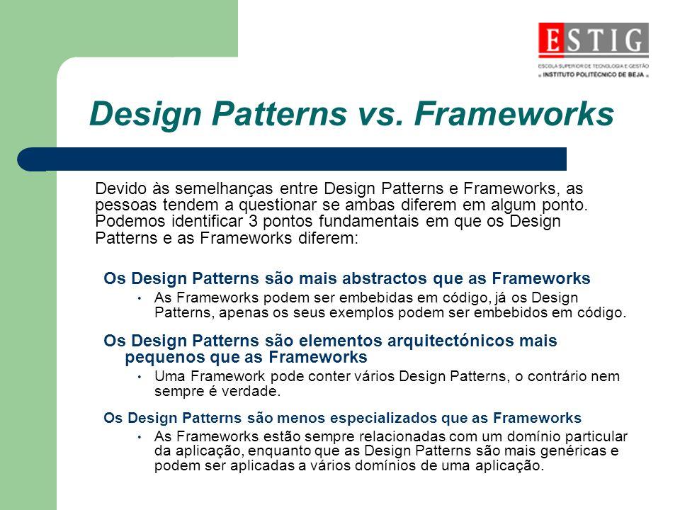 Design Patterns vs. Frameworks