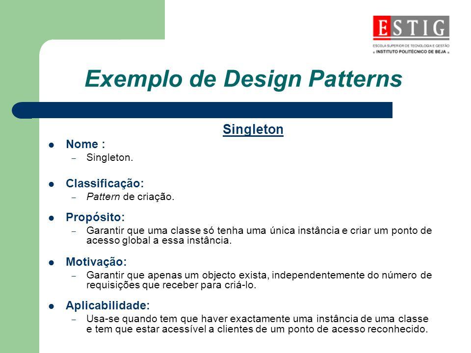 Exemplo de Design Patterns