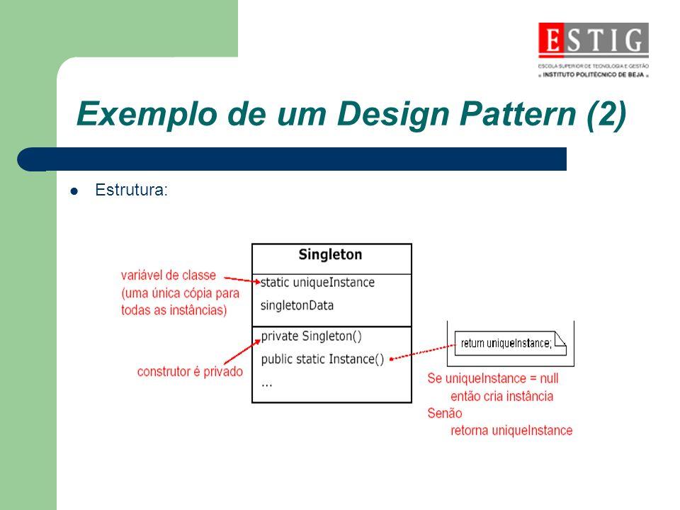 Exemplo de um Design Pattern (2)