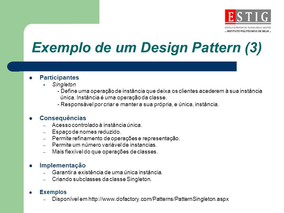 Exemplo de um Design Pattern (3)
