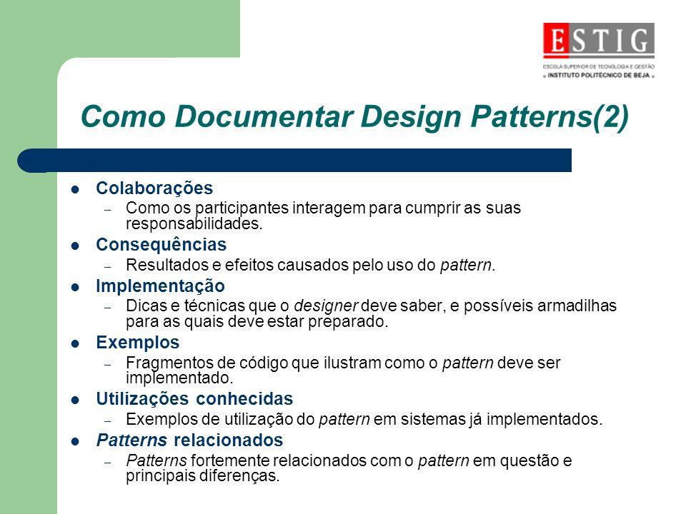 Como Documentar Design Patterns(2)