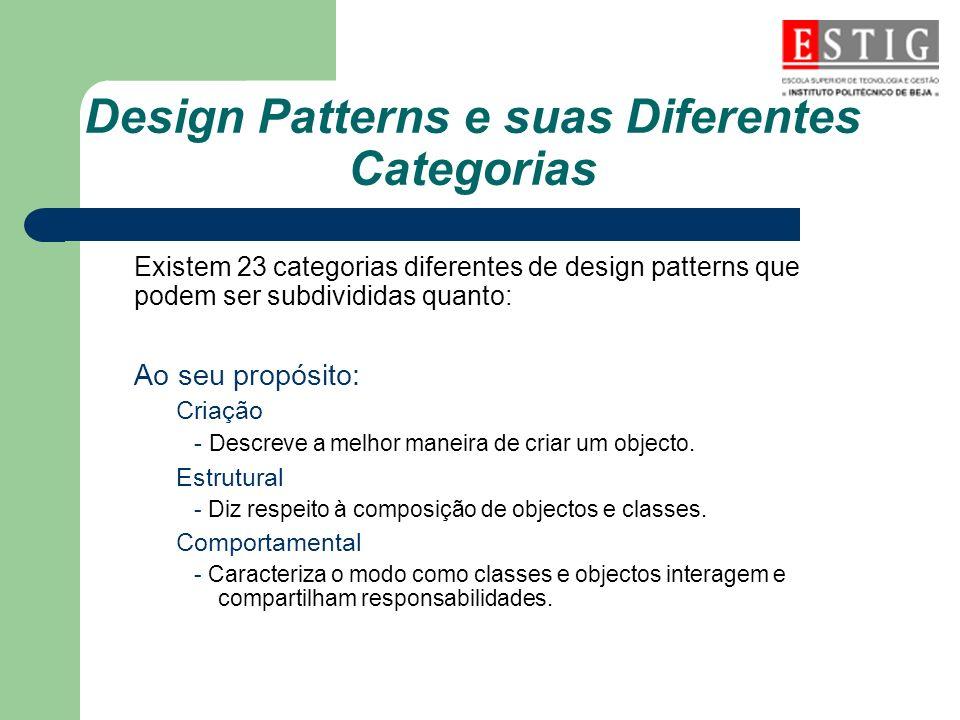 Design Patterns e suas Diferentes Categorias